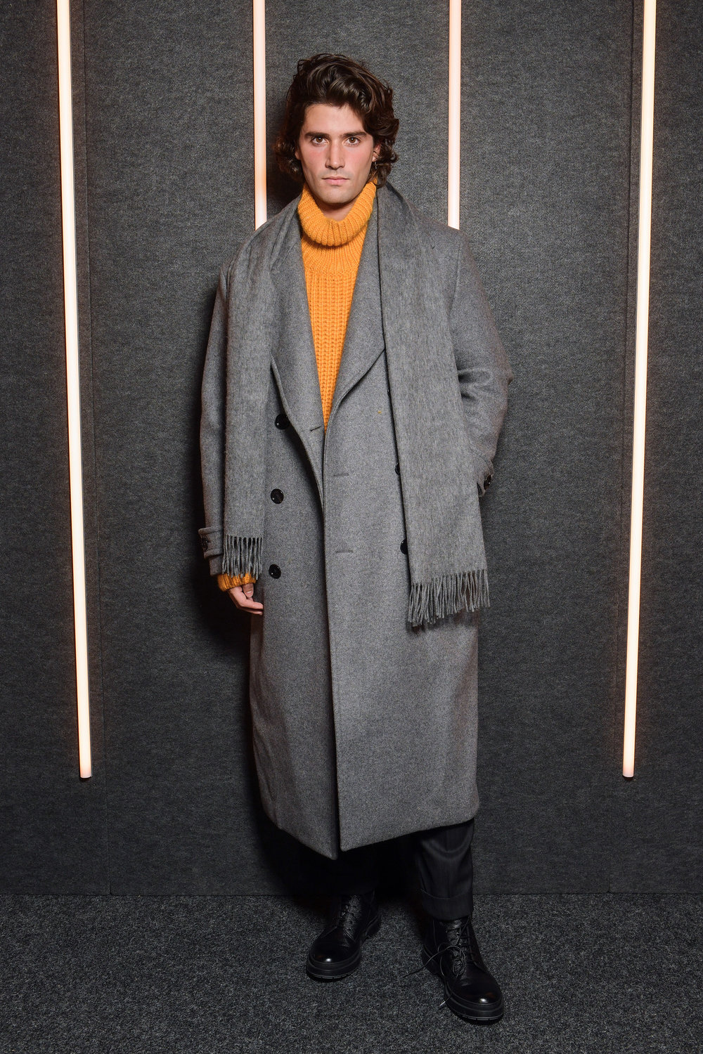 Marc Forne backstage at the BOSS Fall/Winter 2019 show at Basketball City during New York Fashion Week on Wednesday, February 13, in New York City. Photography, Courtesy of BOSS.