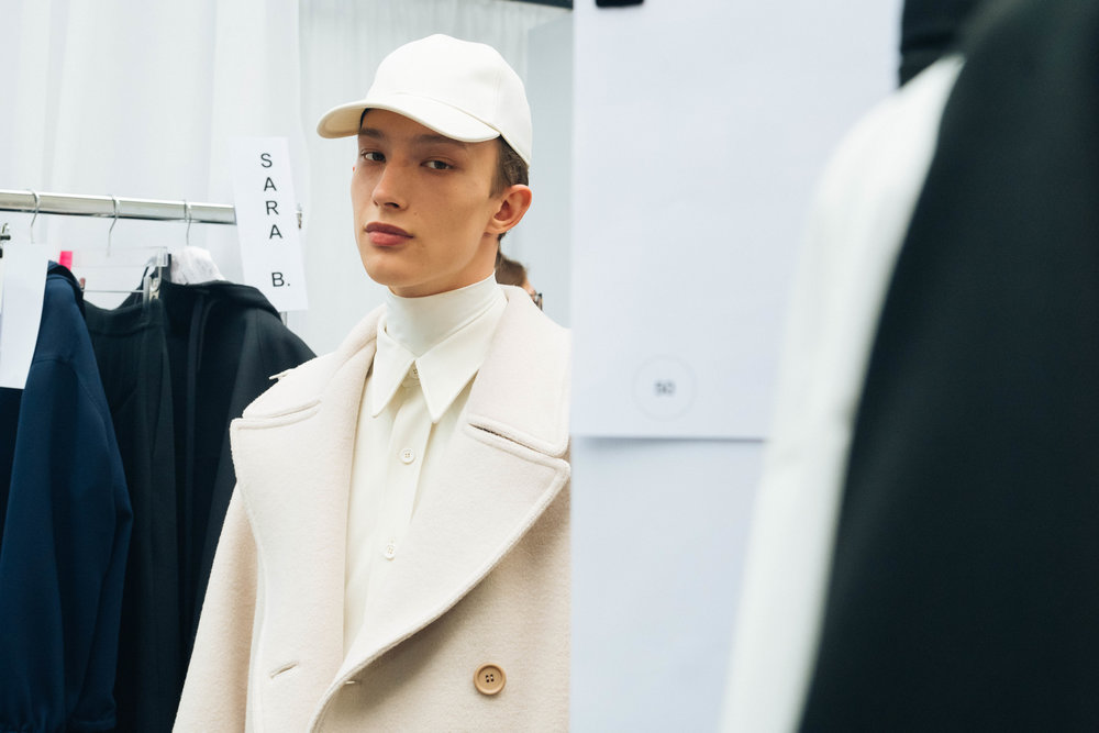 Backstage at the LACOSTE Fall/Winter 2019 runway show in Paris, France on Tuesday, March 5th 2018. Photographed by, Alexandre Faraci.