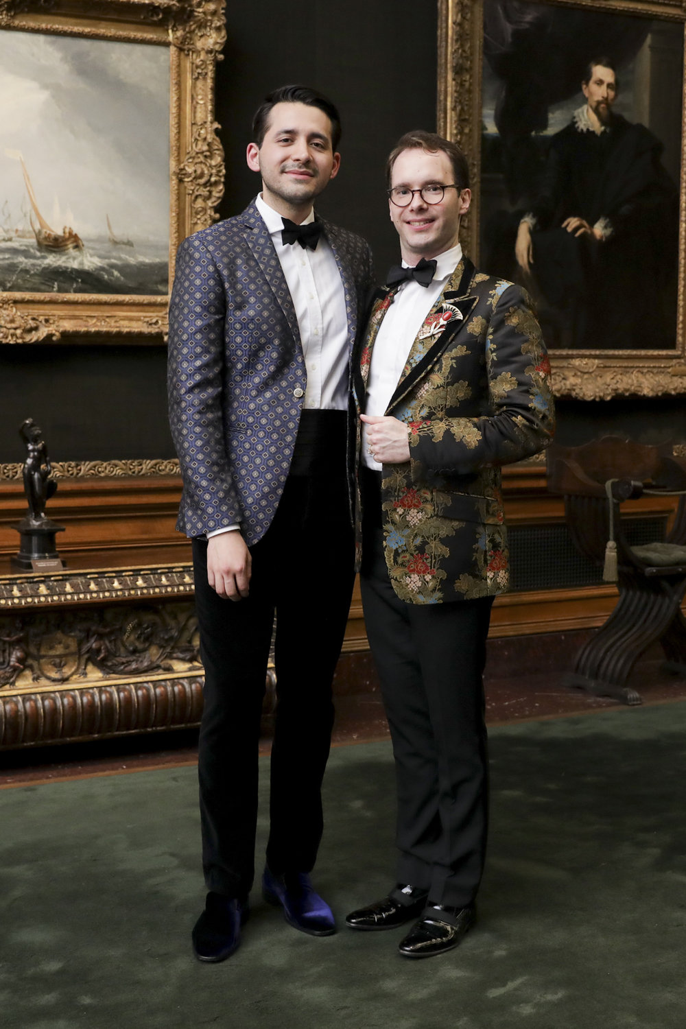 Andrea Perea-Garzon and Blake Funston attend The Frick Collection's 20th Annual Young Fellows Ball at 1 East 70th Street on Thursday, March 21st, 2019. Photography, Courtesy of The Frick Collection.