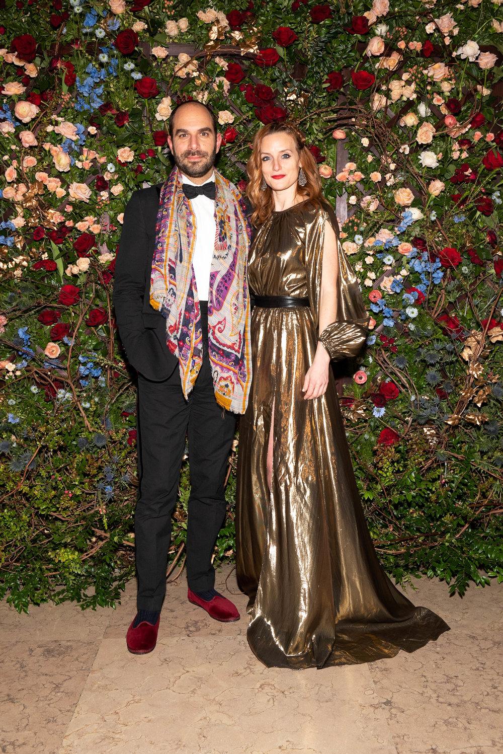 Xavier F. Salomon and Alexis Light attend The Frick Collection's 20th Annual Young Fellows Ball at 1 East 70th Street on Thursday, March 21st, 2019. Photography, Courtesy of The Frick Collection.