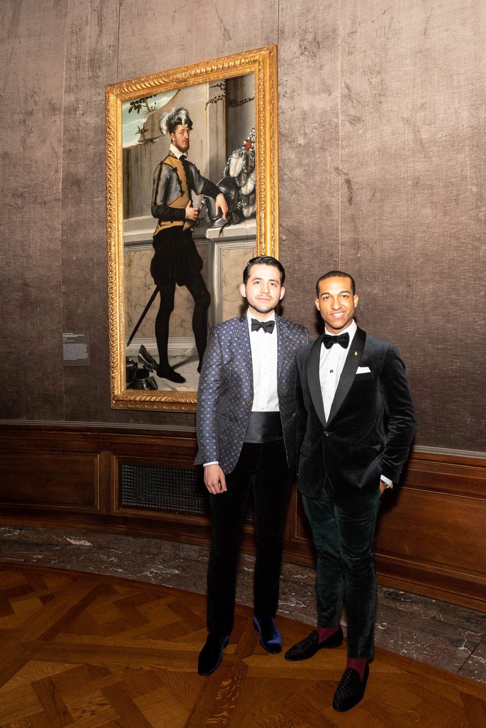 Andrea Perea-Garzon and Tes Kendrick attend The Frick Collection's 20th Annual Young Fellows Ball at 1 East 70th Street on Thursday, March 21st, 2019. Photography, Courtesy of The Frick Collection.