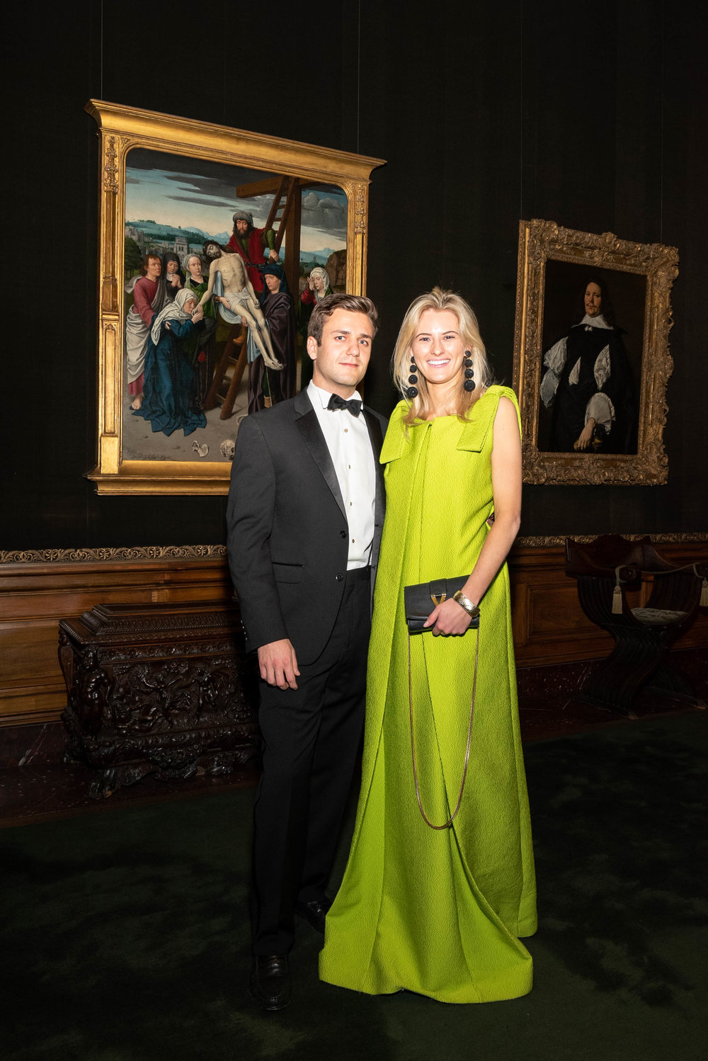 William Leatherman and Blakely Neilson attend The Frick Collection's 20th Annual Young Fellows Ball at 1 East 70th Street on Thursday, March 21st, 2019. Photography, Courtesy of The Frick Collection.