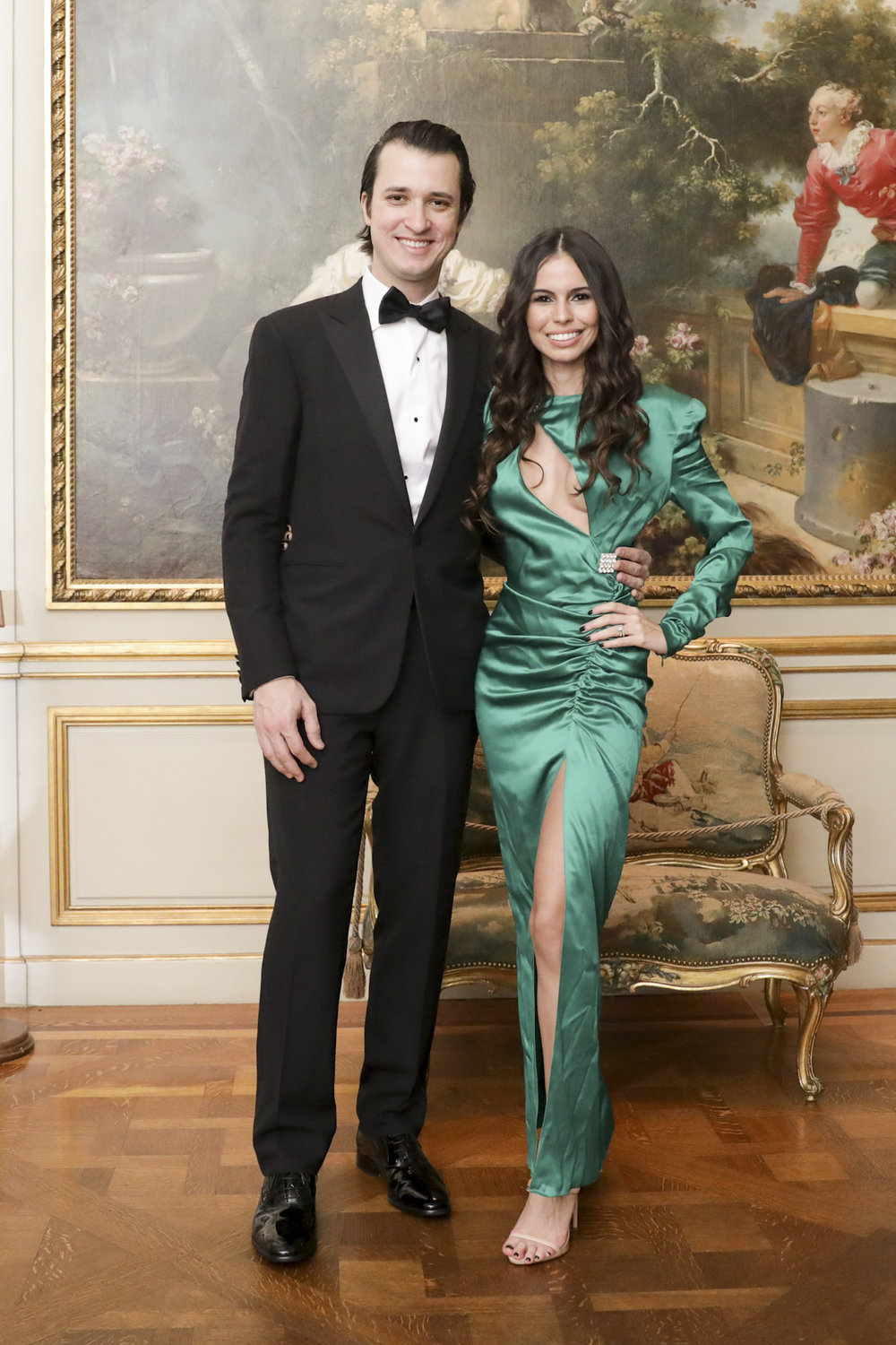 Andy Terra and Flavia Terra attend The Frick Collection's 20th Annual Young Fellows Ball at 1 East 70th Street on Thursday, March 21st, 2019. Photography, Courtesy of The Frick Collection.