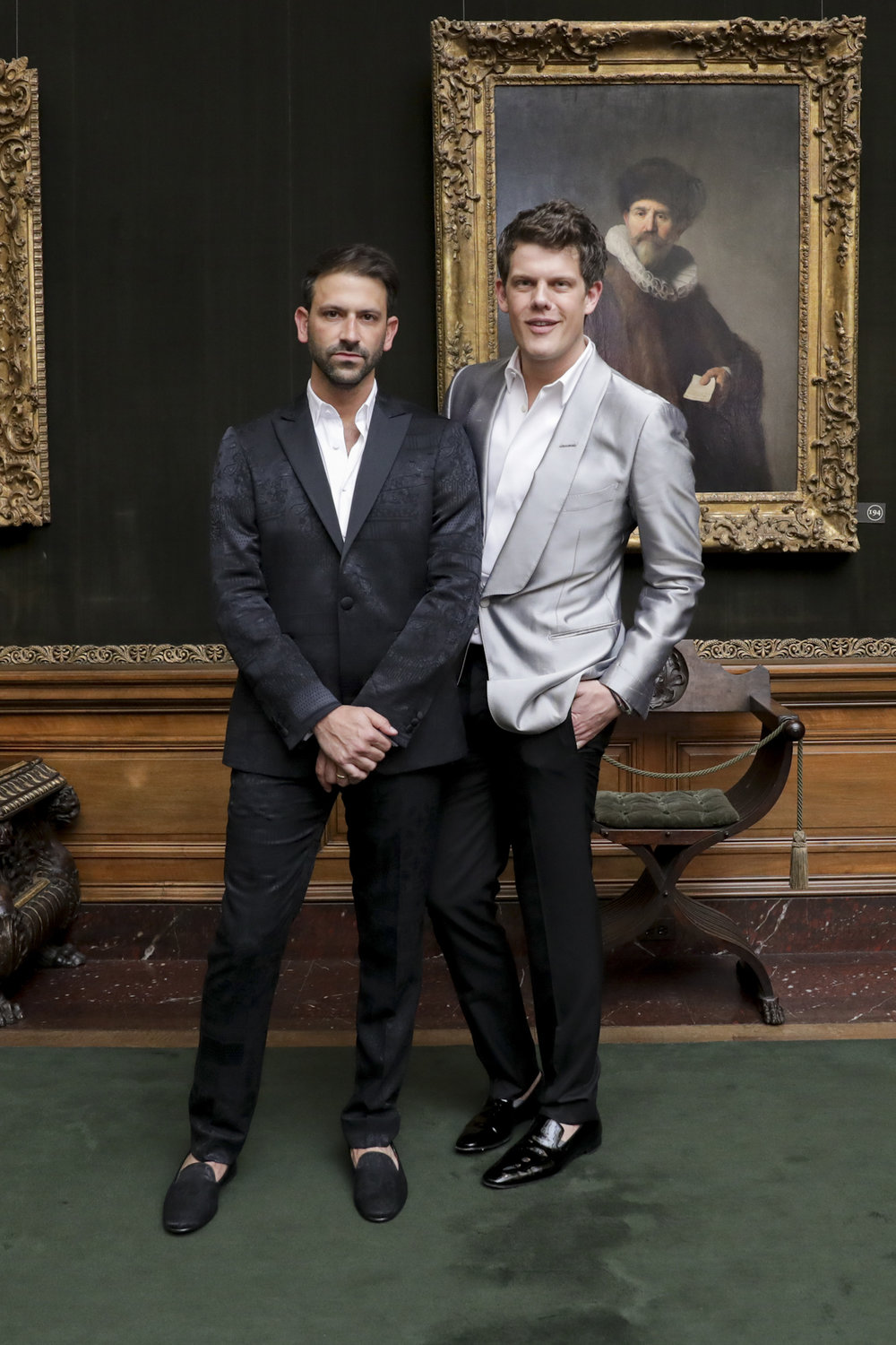 Paul Arnhold and Wes Gordon attend The Frick Collection's 20th Annual Young Fellows Ball at 1 East 70th Street on Thursday, March 21st, 2019. Photography, Courtesy of The Frick Collection.