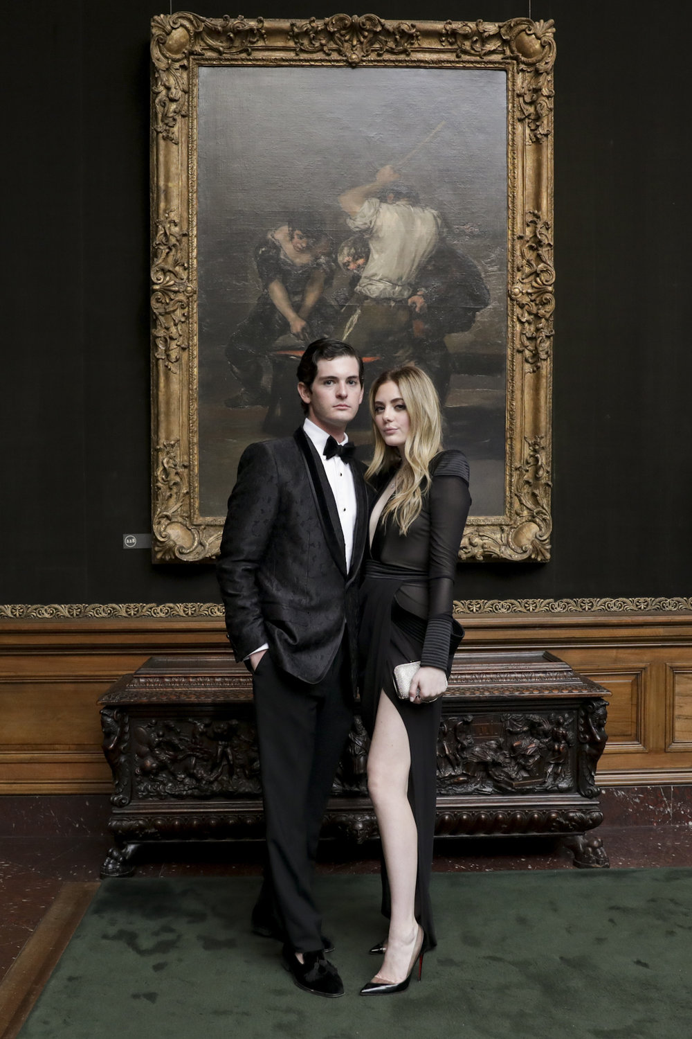 Steven Sachs and Erica Downs attend The Frick Collection's 20th Annual Young Fellows Ball at 1 East 70th Street on Thursday, March 21st, 2019. Photography, Courtesy of The Frick Collection.