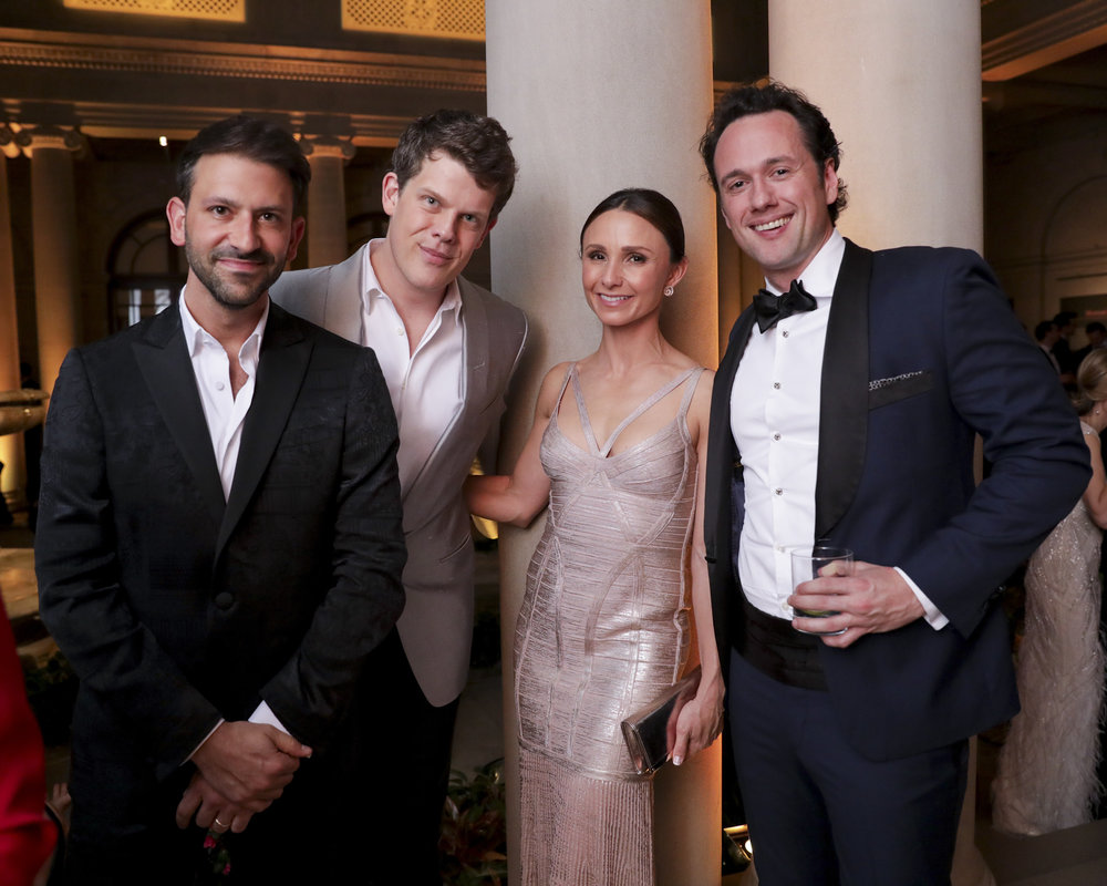 Paul Arnhold, Wes Gordon, Georgina Bloomberg, and Matthew Fitzpatrick attend The Frick Collection's 20th Annual Young Fellows Ball at 1 East 70th Street on Thursday, March 21st, 2019. Photography, Courtesy of The Frick Collection.