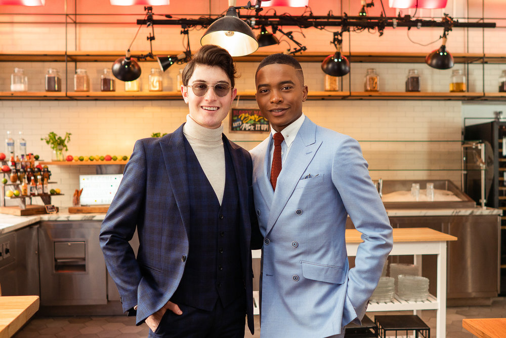From Left To Right: Larry Milstein and Igee Okafor attend the BOND OFFICIAL x InStitchu Brunch at Harold's on Saturday, March 23rd, 2019. Photography by, Inexora Media.