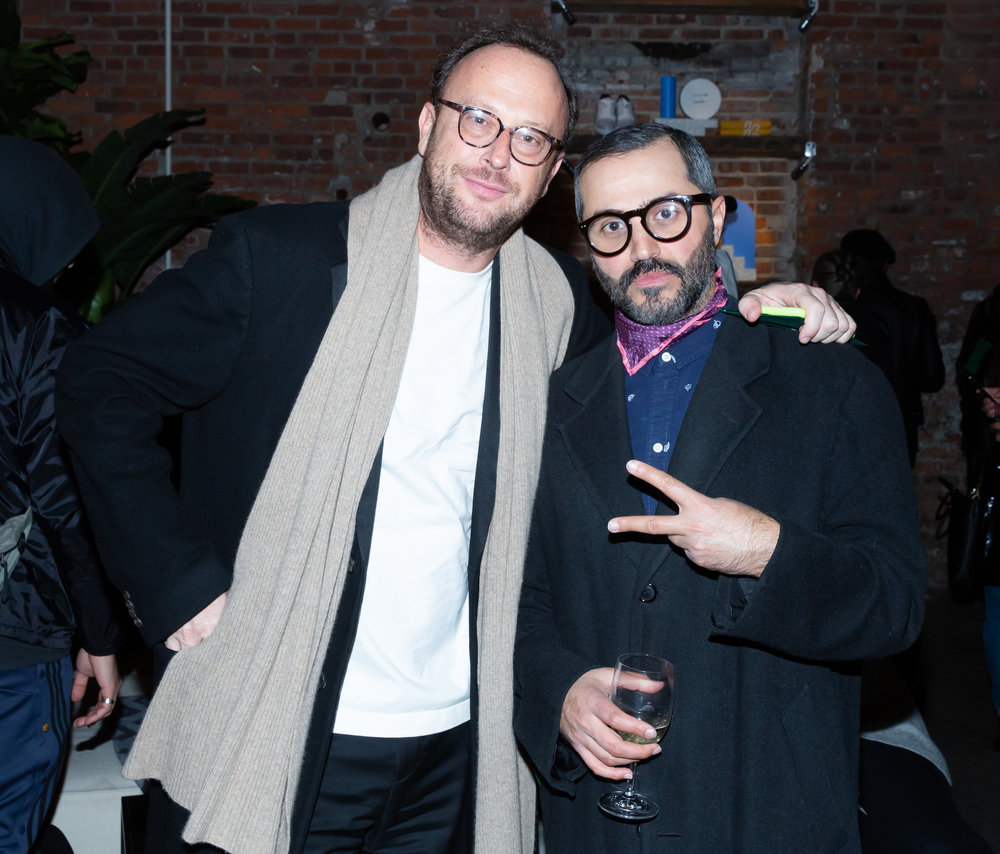 Ryan Kelly and Enrico Bruni attend The Lacoste x Keith Haring Global Launch Party at Pioneer Works on Tuesday, March 26th, 2019. Photographed by Max Lakner/BFA.