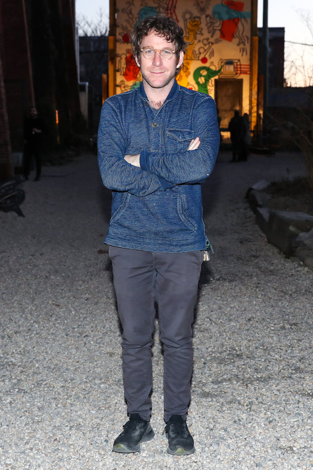 Dustin Yellin attends The Lacoste x Keith Haring Global Launch Party at Pioneer Works on Tuesday, March 26th, 2019. Photographed by Neil Rasmus/BFA.