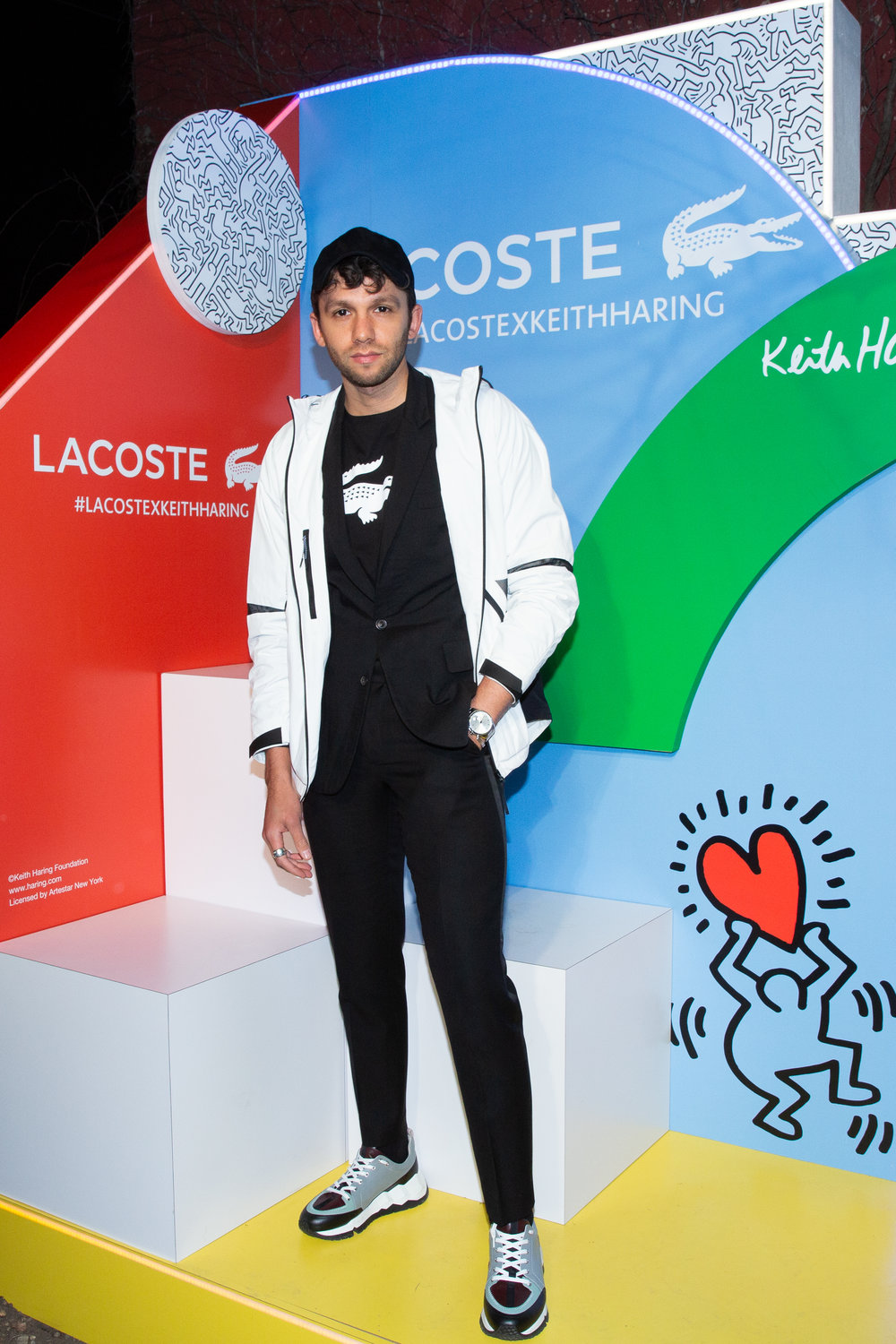 Talun Zeitoun attends The Lacoste x Keith Haring Global Launch Party at Pioneer Works on Tuesday, March 26th, 2019. Photographed by Max Lakner/BFA.