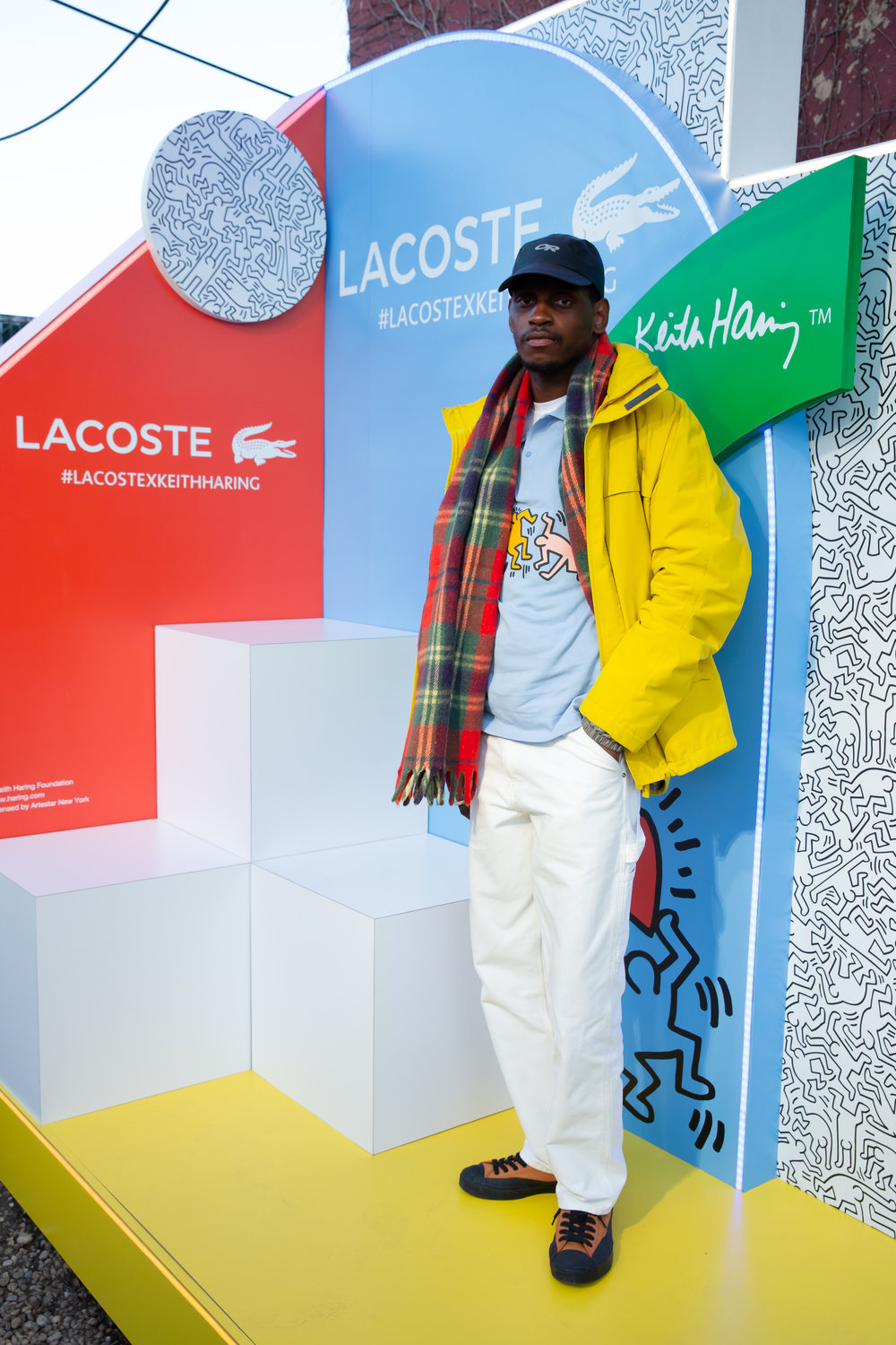 A$AP Nast attends The Lacoste x Keith Haring Global Launch Party at Pioneer Works on Tuesday, March 26th, 2019. Photographed by Max Lakner/BFA.