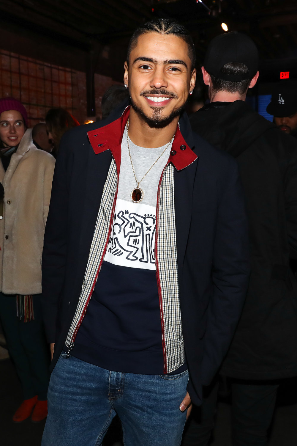 Quincy Brown attends The Lacoste x Keith Haring Global Launch Party at Pioneer Works on Tuesday, March 26th, 2019. Photographed by Neil Rasmus/BFA.