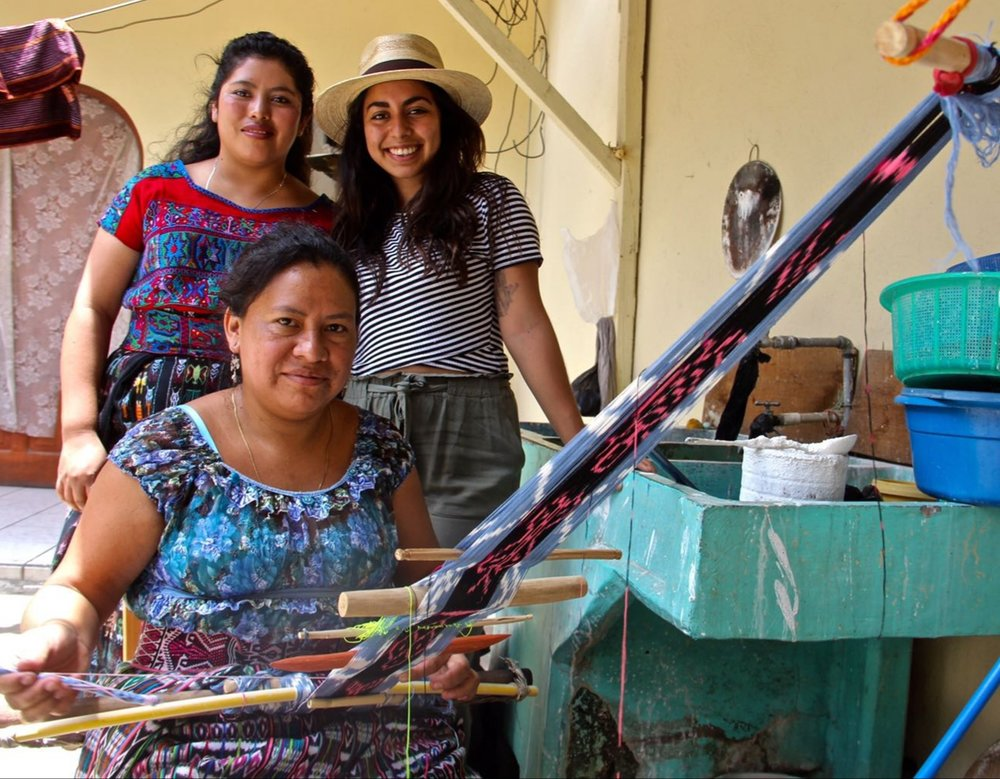 Founder Hannah with artisans from Voces Maya Cooperative.