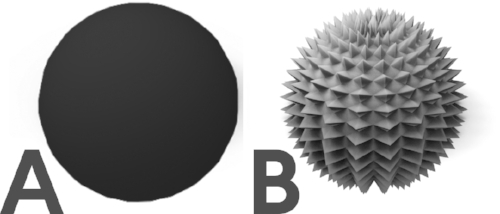 Boolean Input A and B. Sphere and textured sphere.