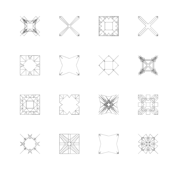 Examples of different lattice units.