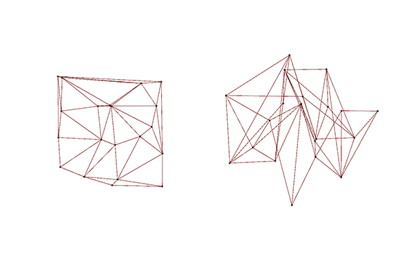 Triangles generated using Delaunay.