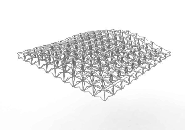 Result:   Lattice Structure between the surfaces.