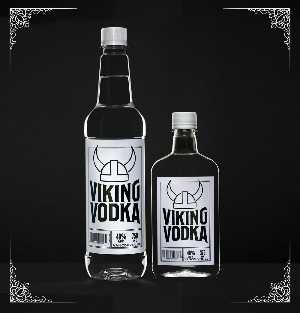 Viking Vodka - No Nonsense, Viking is our value priced, double distilled, active carbon filtered vodka. Not as smooth as our premium vodka, but great for mixing, and a fantastic price. Our basic, no bells and whistles packaging helps us keep the final price down so you can enjoy a great craft vodka, without a bit price tag. Plus, it floats!2017 Canadian Artisan Spirit Competition Silver medal winnerTasting notes:Toasty, caramel, chocolaty, malt notes, fairly soft finish. Mixes well, perfect for caesars, or the mix of your choice.