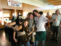 The crazy staff from the Nature Centre at the 2010 caveman/dinosaur themed Beer Tasting event