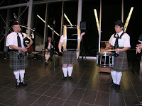Lethbridge Legion Pipe and Drum Band members perform at our Robbie Burns event in January 2010