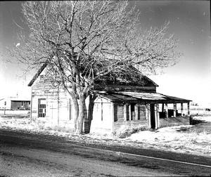 An abandoned rest stop at Kipp 1966  Courtesy the Galt Museum & Archives: P19752207254