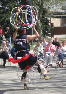 Hoop dancing and other entertainment took place all around the building and inside - Grand Reopening May 2006