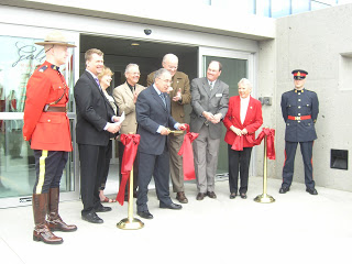 The official ribbon cutting after the official ceremony