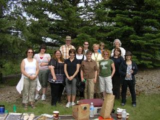 Galt staff at Frisbee Golf - June 2010