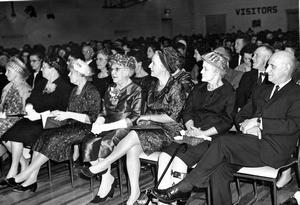 50th Anniversary Ceremonies with Matilda Galbraith, Jean Galbraith, Jessie Watson and George Watson. Galt Archives 19871034035.