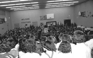 Assembly at Galbraith School during anniversary celebrations. Galt Archives 19752314252.