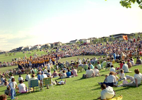 Centennial Band Concert at Nicholas Sheran Park, 1985. Galt Archives 199310641340