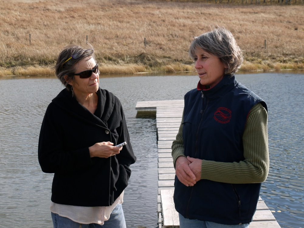 Researcher Dr. Carol Williams and Interviewee Kelly Hall.   Photo Courtesy of Don Gill