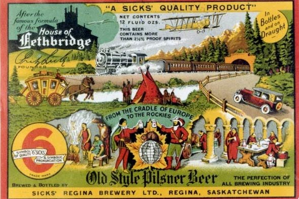 The Classic Old Style Pilsner label. Galt Archives
