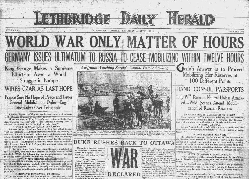 War Fever Strikes Lethbridge — Galt Museum   Archives a25aa2c5ff95
