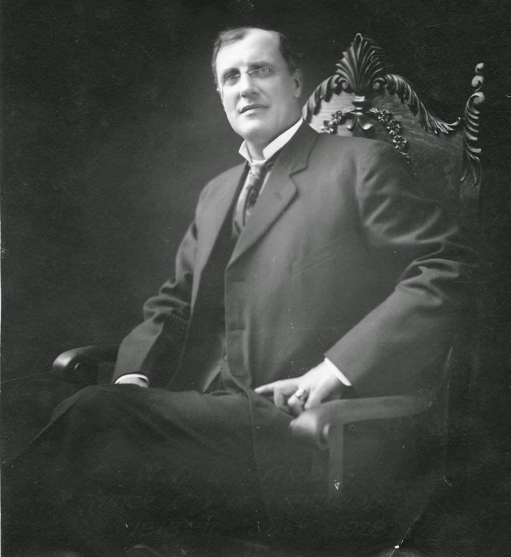 Hardie served as Mayor of Lethbridge throughout the Great War and was an active supporter of the war effort. His own son, W.E.G. Hardie, joined hundreds of other local men in enlisting for service with the Canadian Expeditionary Forces.  Courtesy the Galt Museum & Archives: 19861078012