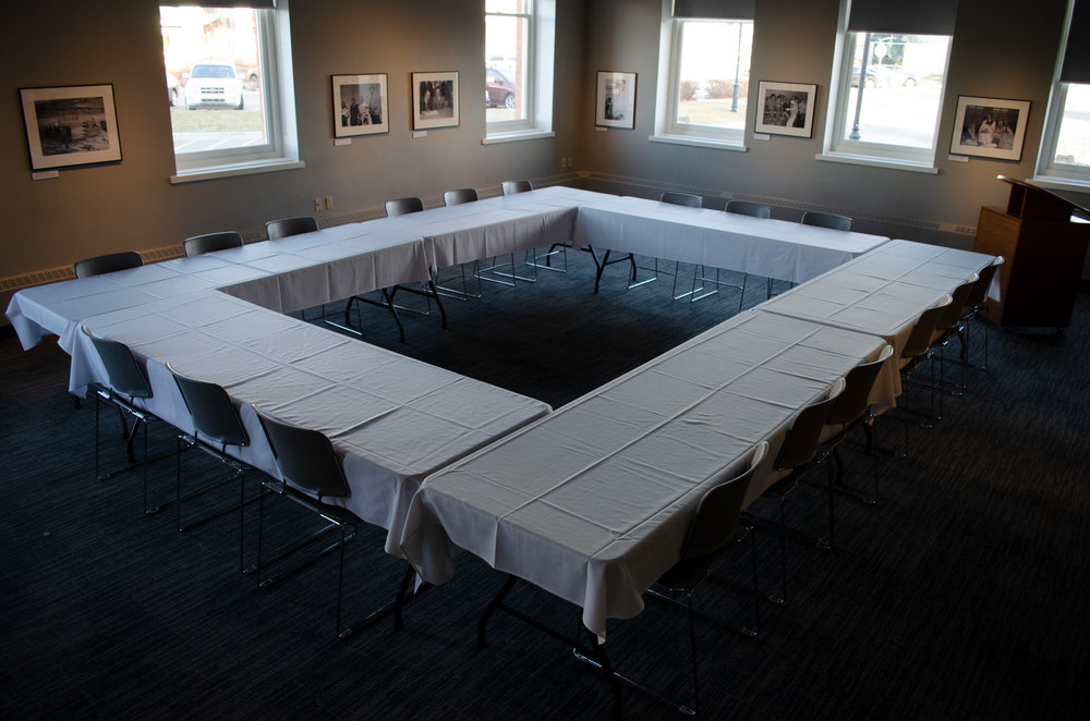 Servus Credit Union Learning Studio - $170 Half day$275 Full dayMaximum Seating:26 boardroom style50 theatre style40 round table style