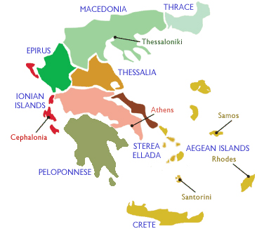 Winemaking REgions of Greece