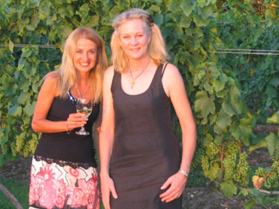 with Marie Borghese at Borghese Vineyard