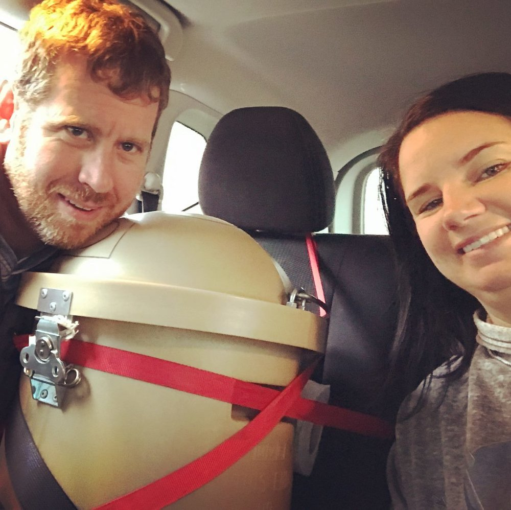 Kerri and Chris bringing their embryo to NY