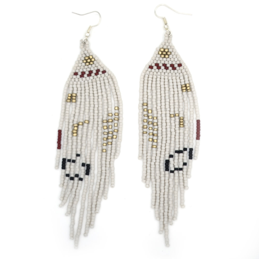 BEADED EARINGS -