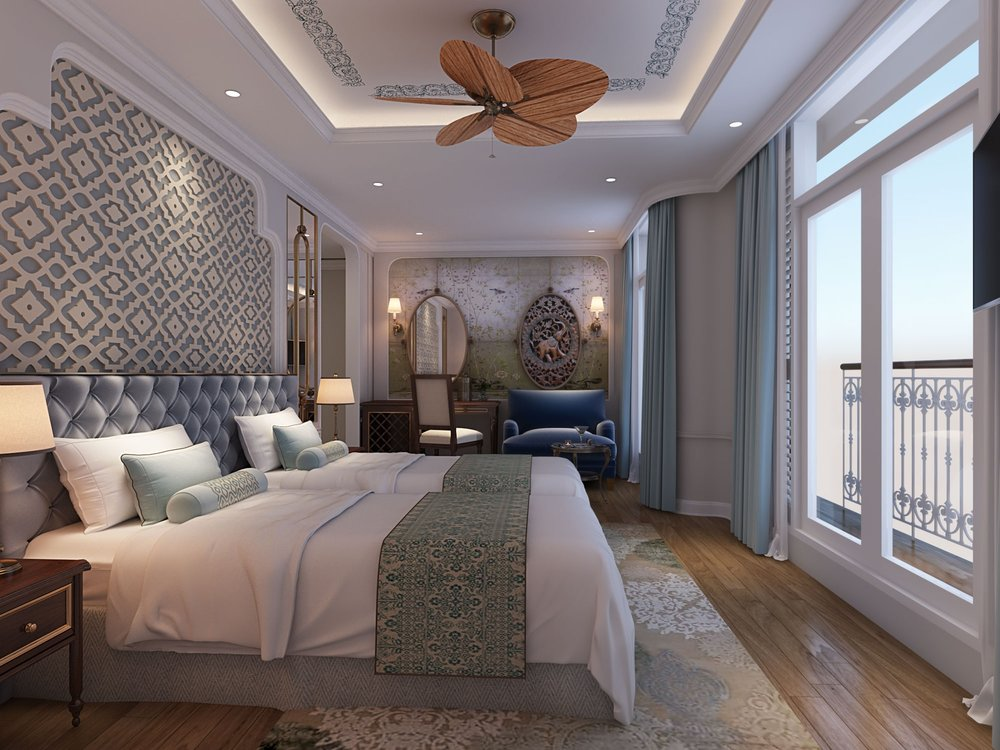 Signature Suite : With the option of two twin-size beds or one queen-size bed, the Signature Suite layout can be customised for the guests' needs. The space in the 333 sqft (31 sqm) suite becomes even more generous when including the private balcony. Enjoy breakfast in the spacious seating area or choose a nightcap from the fully-stocked minibar while taking in the panoramic view through the floor-to-ceiling glass doors.