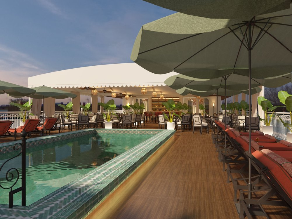Sun Deck and Emerald Pool : Sink into a comfortable chaise lounge, and let the sunshine and bird songs bring blissful relaxation. The Mekong Jewel's sun deck is the ideal place to catch up on reading, sunbathing or just to have a quiet space to enjoy the landscape in the open air.