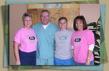 Linda, CA; Dr. Surtin, DC; Brie, Smithey; Gina, Office Manager