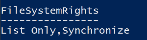 Example of modified command output