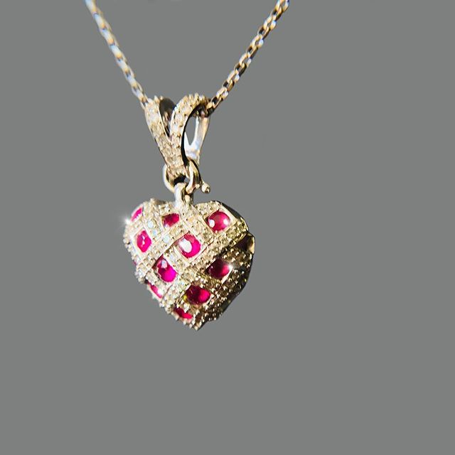 18k Ruby Love pendant ❤️ Available at Cashex BO #cashexpr