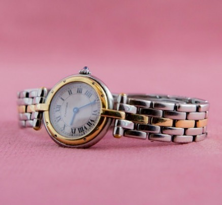 Cartier Panther Vendome Two-Row Steel Yellow Gold Ladies Watch 💝