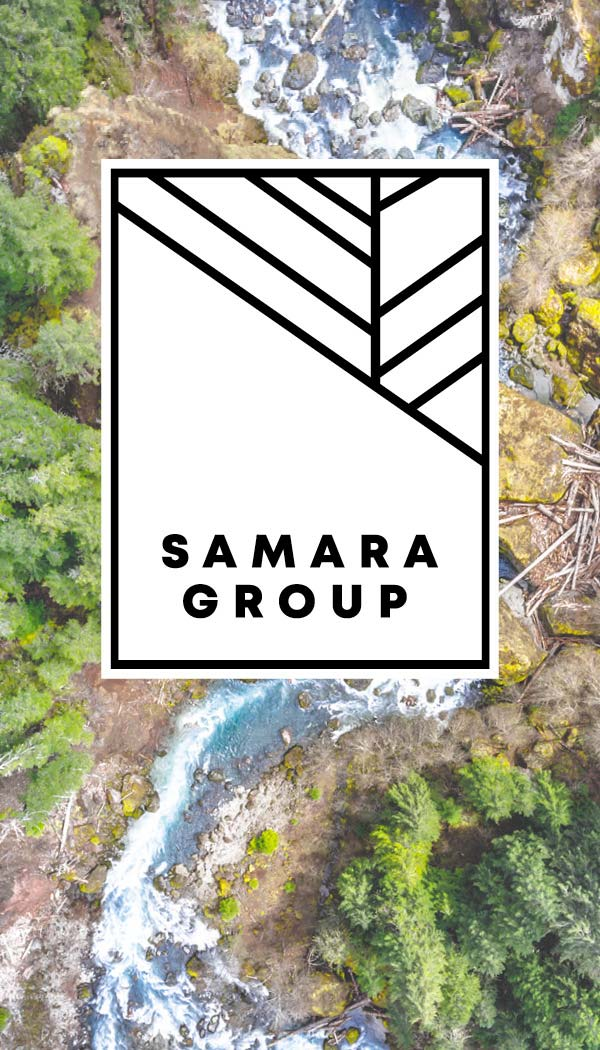 This river ecosystem is one depiction of the beauty of complexity. The organic shapes of the rushing river and surrounding area compare and contrast with our simple, modern logo.