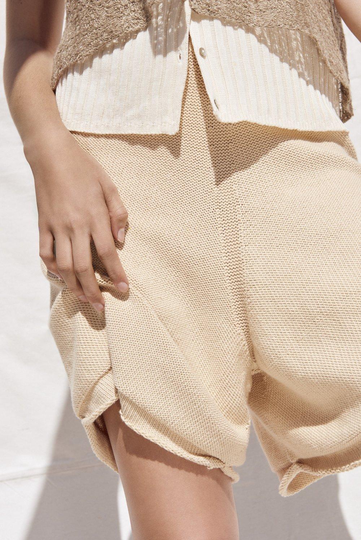 James Rowland shorts, DKNY top.