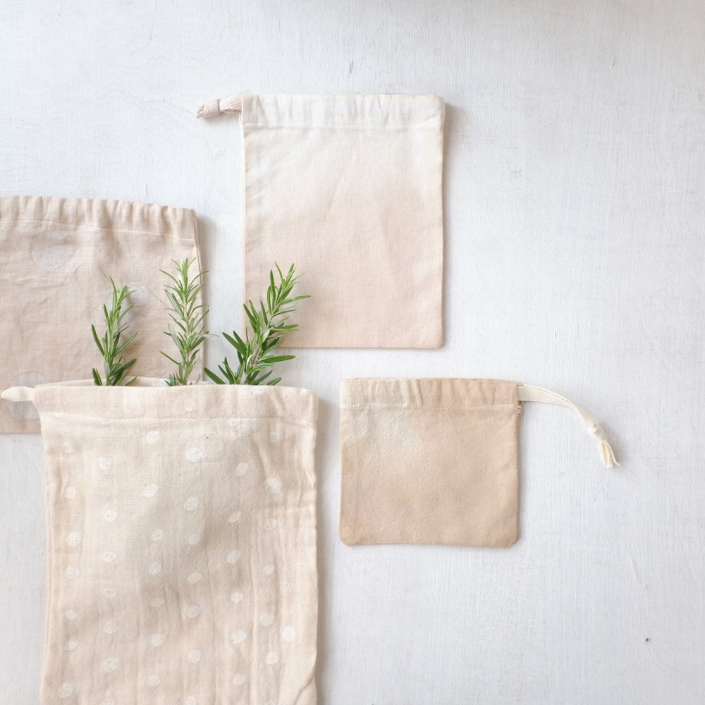 A Verb For Keeping Warm's Many-Purpose Bags - Our favorite place to over-shop in Oakland, AVFKW created this (stash-busting!) dye and sewing project that will add instant, simple elegance to your holidays. Use 'em to wrap gifts, give them as gifts (or, let's be honest, just hoard them for yourself…).