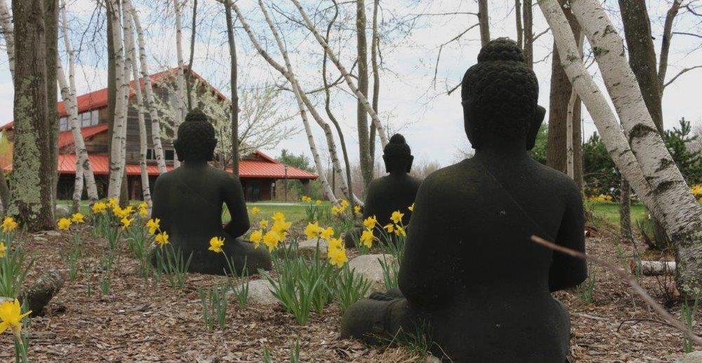 Blue Cliff Monestary Meditation Hall